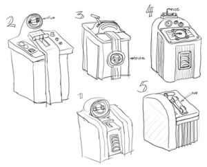 concepts for the control lever